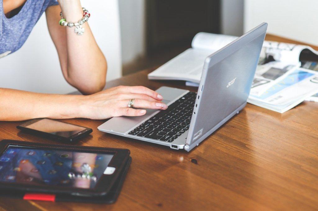 technology, laptop, keyboard